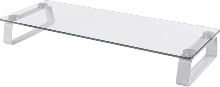 CONNECT IT multifunkční skleněný podstavec pod LCD, bílý