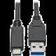 PremiumCord kabel USB-C - USB 3.0 A (USB 3.1 generation 2, 3A, 10Gbit/s) 2m