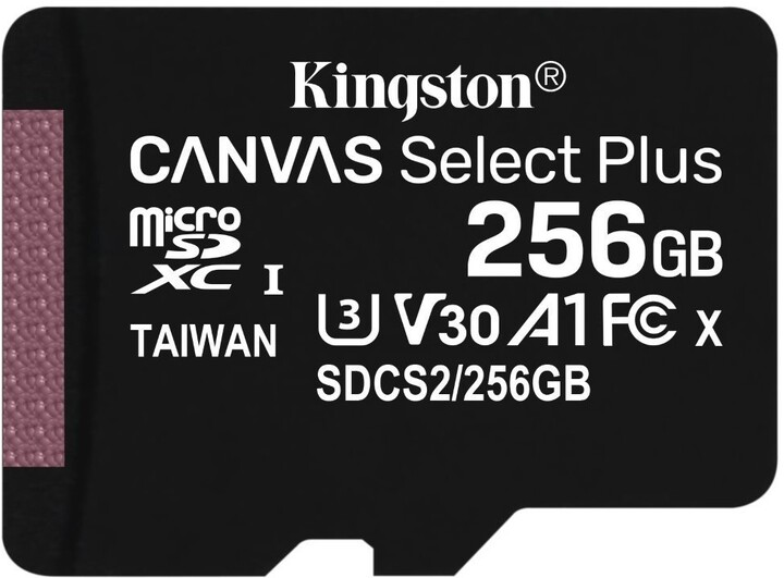 Kingston Micro SDXC Canvas Select Plus 100R 256GB 100MB/s UHS-I