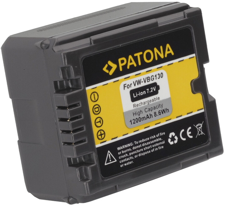 Patona baterie pro Panasonic VW-VBG130 1200mAh 7,72 Li-Ion