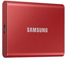 Samsung T7 - 1TB, červená - MU-PC1T0R/WW