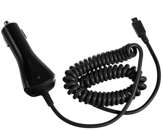 CELLY autonabíječka microUSB, 1A, černá