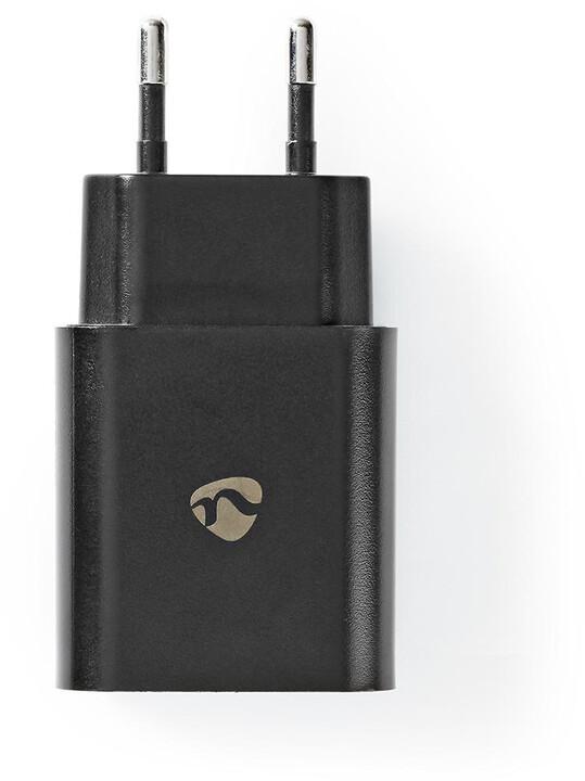 Nedis síťová nabíječka, USB-C, PD, 18W, černá