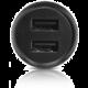 ALCATEL Dual autoadaptér USB 2.1A bez kabelu, černá