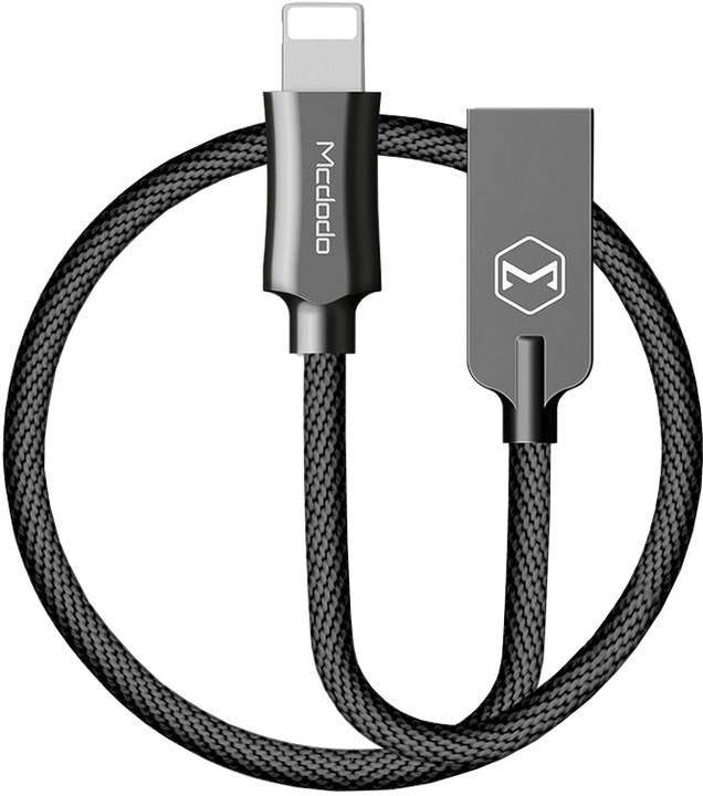 Mcdodo Knight datový kabel Lightning, 1.2m, černá