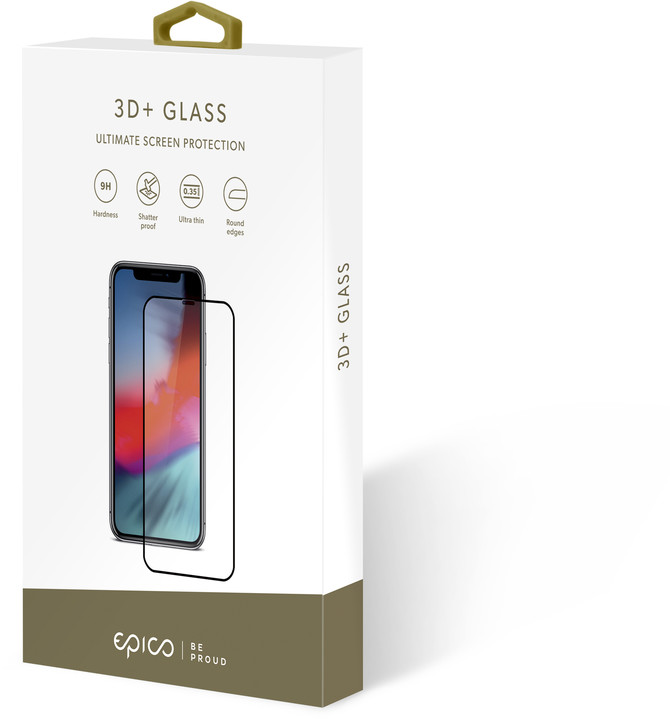 EPICO GLASS 3D+ tvrzené sklo pro iPhone 6 Plus/6S Plus/7 Plus, černý