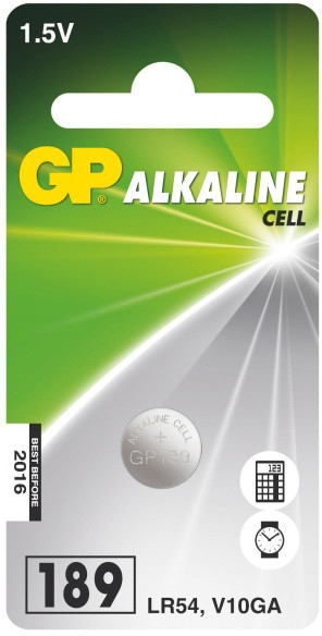 GP LR54 (GP189, 11.6 x 3.05 mm) - 1 ks