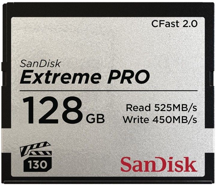 SanDisk Extreme Pro CFAST 2.0 128GB 525 MB/s