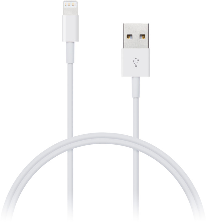 CONNECT IT Wirez Apple Lightning USB, 2m, bílá