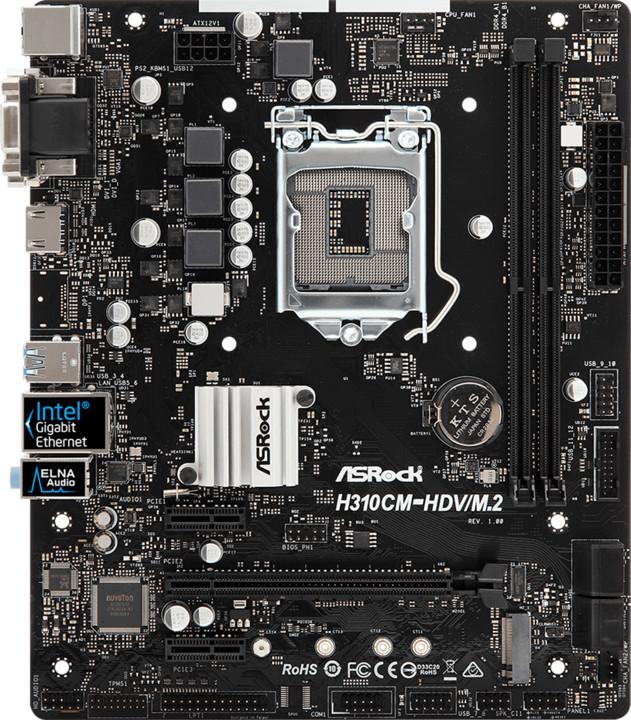 ASRock H310CM-HDV/M.2 - Intel H310