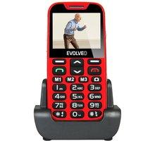 Evolveo EasyPhone XD s nabíjecím stojánkem, Red - EP-600-XDR