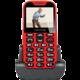 Evolveo EasyPhone XD s nabíjecím stojánkem, červená  + Při nákupu nad 500 Kč Kuki TV na 2 měsíce zdarma vč. seriálů v hodnotě 930 Kč