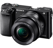 Sony Alpha 6000 + 16–50mm, černá