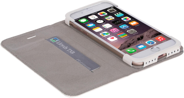Krusell knížkové pouzdro malmo pro iPhone 7, bílá