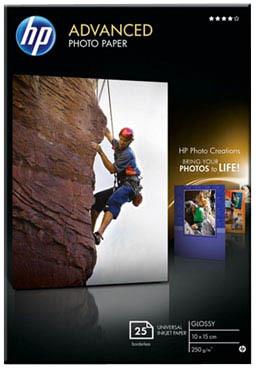 HP Foto papír Advanced Photo Paper, Glossy, 10 x 15cm, 25 listů