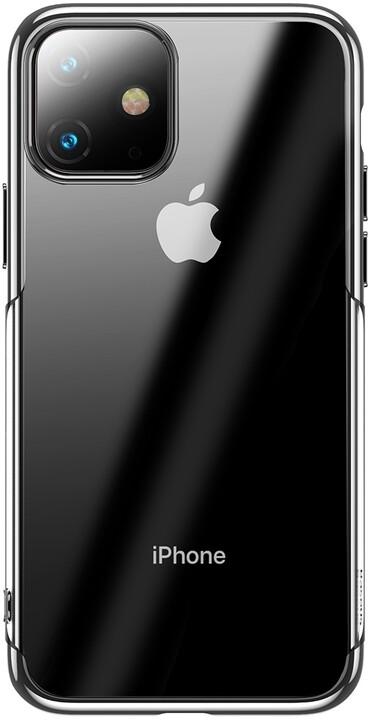 BASEUS Shining Series gelový ochranný kryt pro Apple iPhone 11, stříbrná