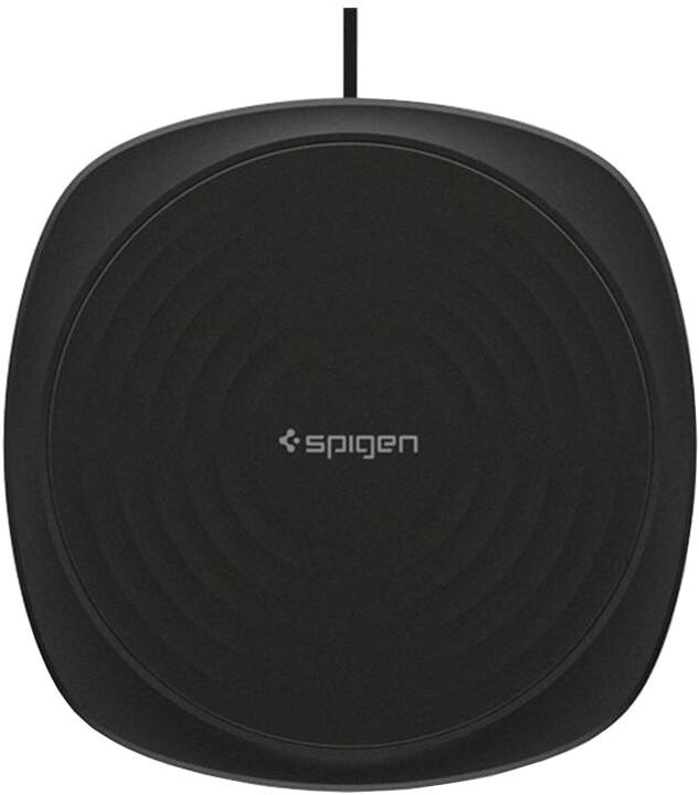 Spigen Essential F305W Wireless Fast Charger, černá