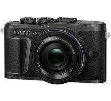 Olympus E-PL10 + 14-42mm, černá/černá, Pancake Zoom Kit - V205101BE000