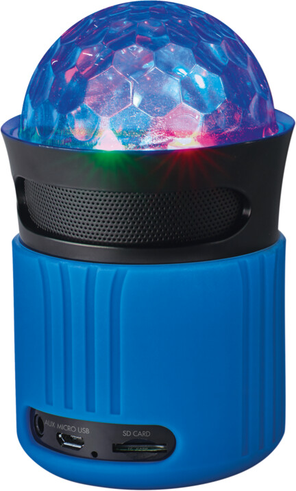 Trust Dixxo Go Wireless Bluetooth Speaker with party lights, modrá