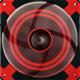 AeroCool Dead Silence Red Edition, 140 mm
