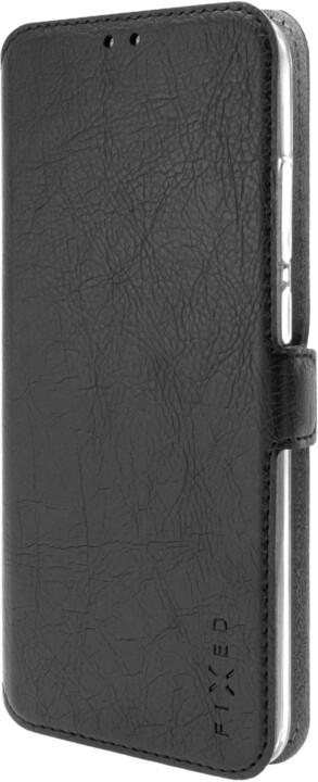 FIXED tenké flipové pouzdro Topic pro Samsung Galaxy A12, černá