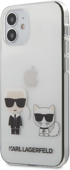"""KARL LAGERFELD ochranný kryt Karl &Choupette pro iPhone 12 Mini (5.4""""), TPU, transparentní"""