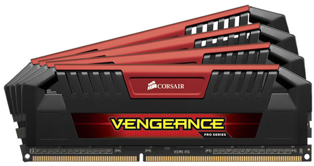 Corsair Vengeance Pro Red 32GB (4x8GB) DDR3 2400