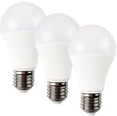 Solight LED žárovka 3-pack, klasický tvar, 12W, E27, 3000K, 270°, 980lm, 3ks v balení