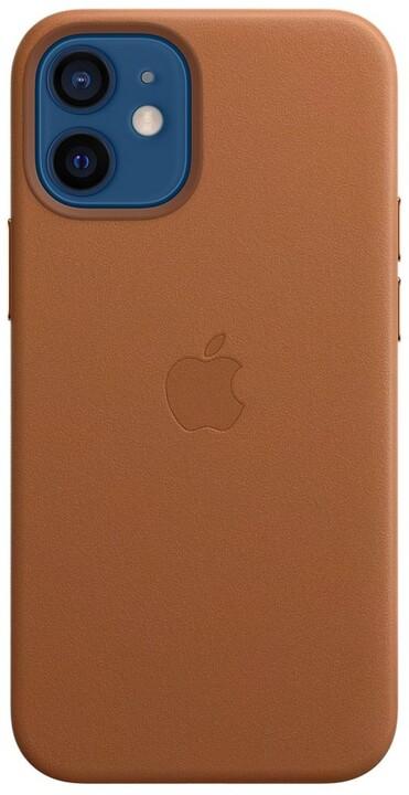 Apple kožený kryt s MagSafe pro iPhone 12 mini, hnědá