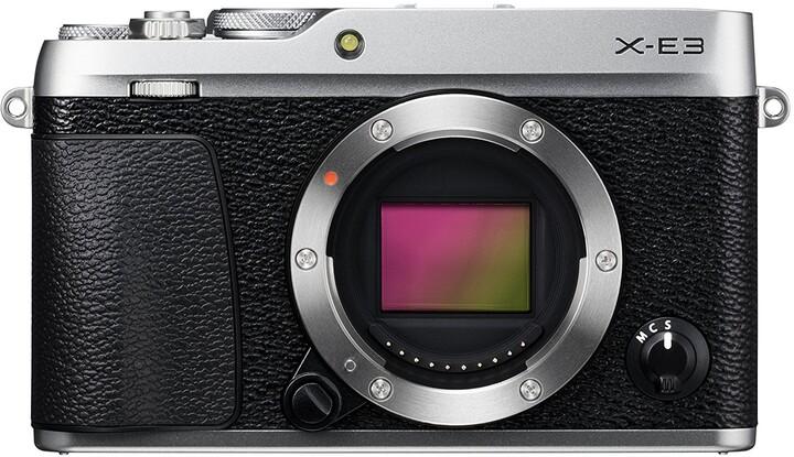 Fujifilm X-E3, tělo, stříbrná