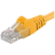 PremiumCord Patch kabel UTP RJ45-RJ45 level 5e 5m žlutá