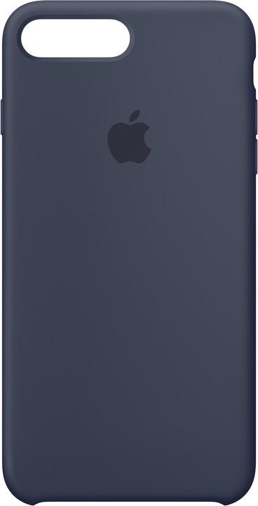 Apple Silikonový kryt na iPhone 7 Plus/8 Plus – půlnočně modrý