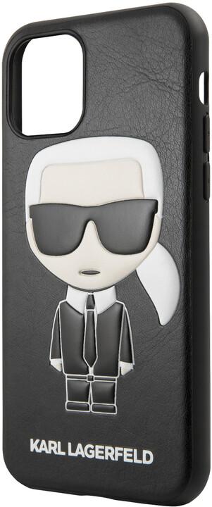 KARL LAGERFELD Embossed kryt pro iPhone 11, černá