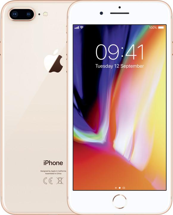 Apple iPhone 8 Plus, 128GB, zlatá