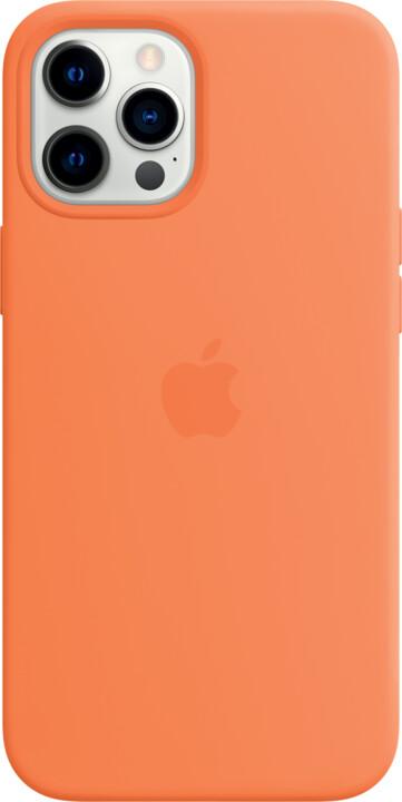 Apple silikonový kryt s MagSafe pro iPhone 12 Pro Max, oranžová