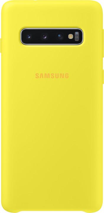 Samsung silikonový zadní kryt pro Samsung G973 Galaxy S10, žlutá