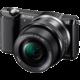 Sony Alpha 5000 + 16-50mm, černá