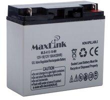 MaxLink baterie AGM 12V/18Ah, olověný akumulátor F (M5) - MLB-A12-18