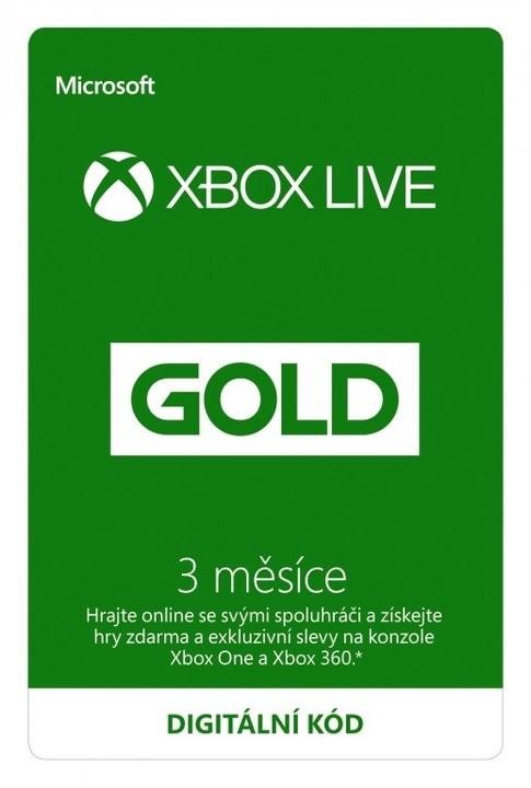 Microsoft Xbox Live zlaté členství 3 měsíce - elektronicky