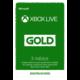 Karta Microsoft Xbox Live zlaté členství 3 měsíce (v ceně 500 Kč)