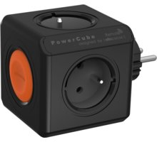 PowerCube ORIGINAL REMOTE multifunkční zásuvkový systém 4x zásuvka, černo/oranžová