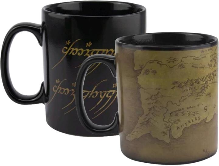 Hrnek Lord Of the Rings - Map, měnící se, 550 ml