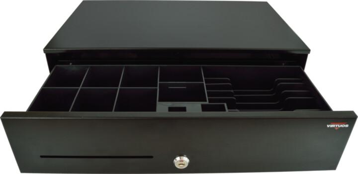 Virtuos SK-500C - s kabelem, pořadač 6/8, 9-24V, černá