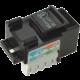 Solarix zařezávací keystone CAT5E UTP RJ45 svorkovnice 90° černý s vyvazováním SXKJ-5E-UTP-BK-D