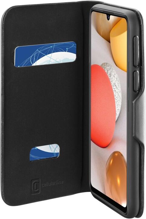 Cellularline flipové pouzdro Book Clutch pro Samsung Galaxy A42 (5G), černá
