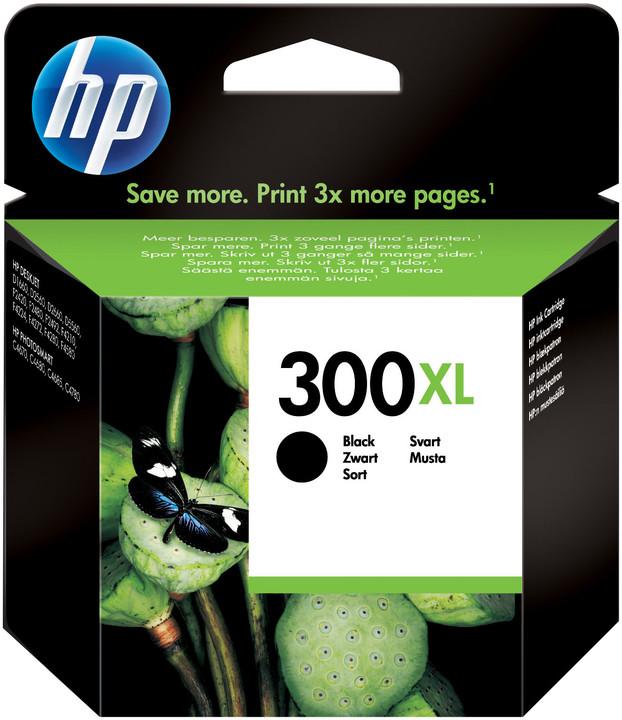 HP CC641EE, no.300XL, černá – ušetřete až 50 % oproti standardní náplni