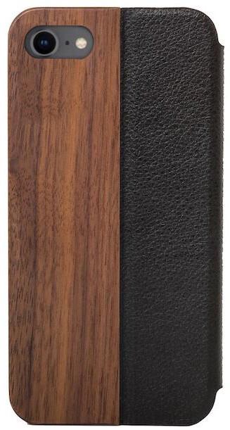 Woodcessories flipové pouzdro pro iPhone 7/8/SE (2020), kožené, Walnut