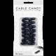Cable Candy kabelový organizér Snake, 2 ks, černá