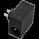 USBEPower HIDE Power Hub charger 3USB/2plugs, černá
