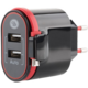 GoGEN nabíječka do sítě ACH202C, 2xUSB, 2,4A, integrovaný Micro USB kabel